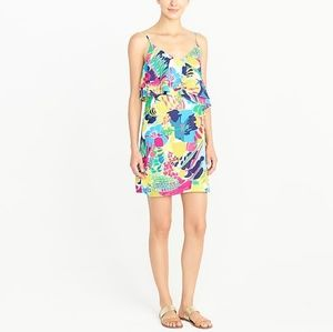 "NWT ""J Crew"" Printed ruffle-front cami dress"